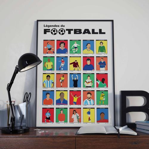 Affiche Légendes du football
