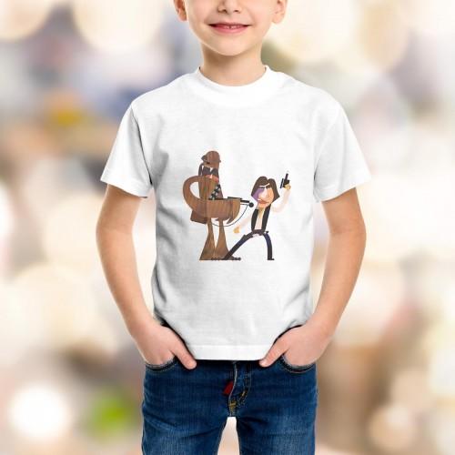 T-shirt enfant Han Solo et Chewbacca