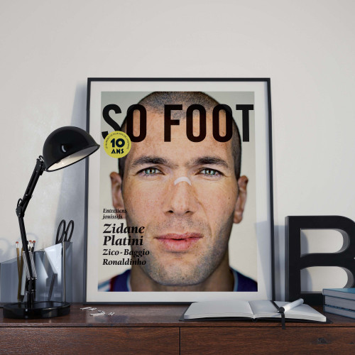 Affiche So Foot, Zidane
