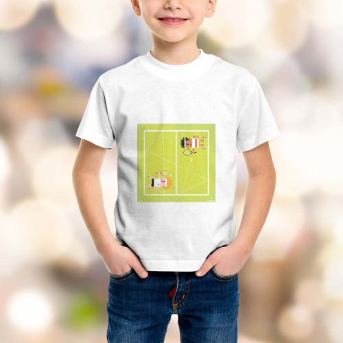 T-shirt enfant Tennis Grand Chelem Wimbledon men