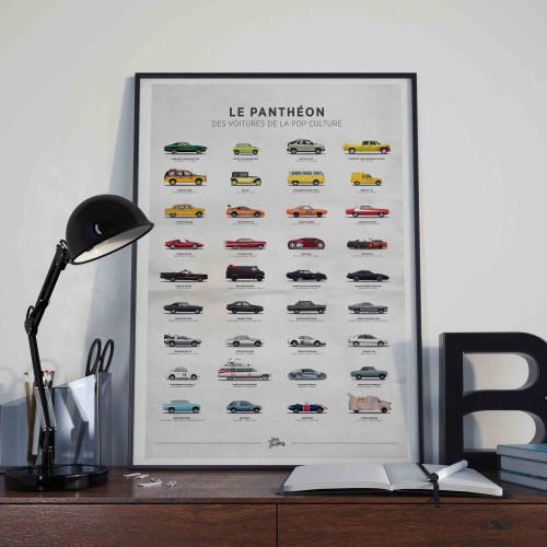 Affiche Panthéon des voitures de la pop culture