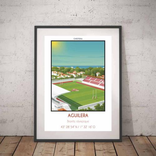 Affiche Stade Aguilera Biarritz