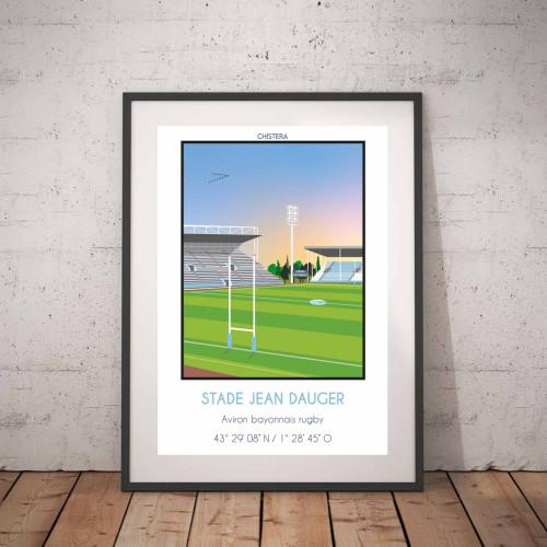 Affiche Stade Jean Dauger Bayonne