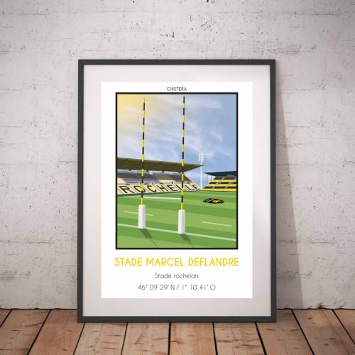 Affiche Stade Marcel Deflandre La Rochelle