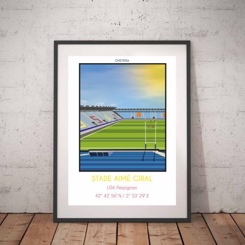 Affiche Stade Aimé Giral Perpignan