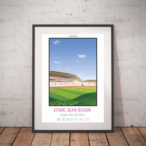 Affiche Stade Jean Bouin Paris