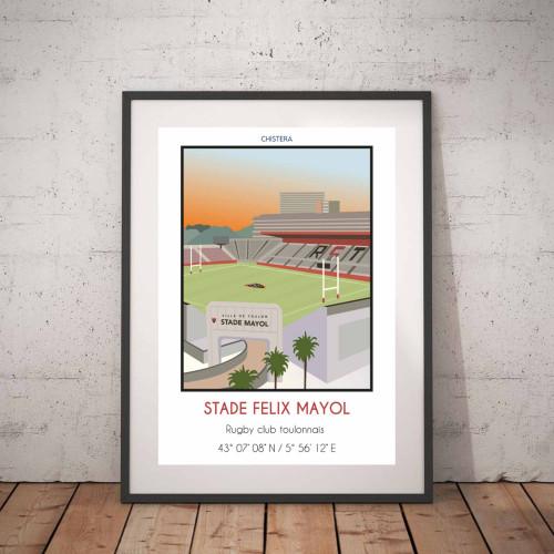 Affiche Stade Felix Mayol Toulon