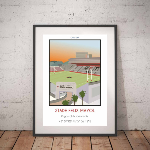 Affiche Stade Felix Mayol Toulon