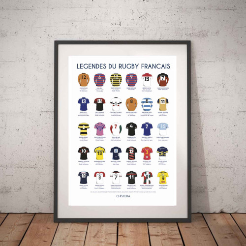 Affiche Légendes du rugby