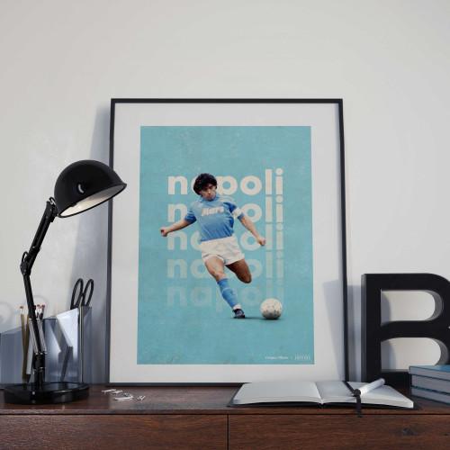 Affiche Maradona Napoli