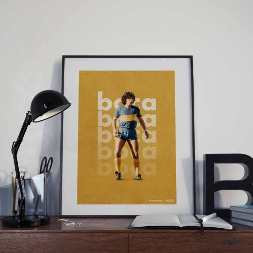 Affiche Maradona Boca