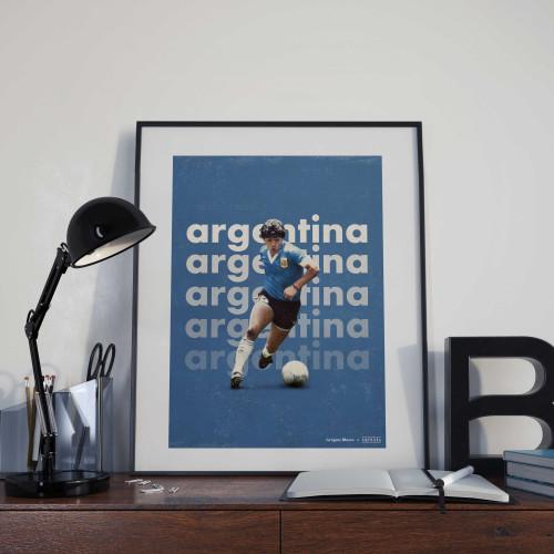Affiche Maradona Argentine
