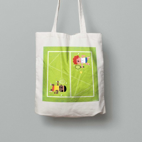 Tote bag Grand Chelem Wimbledon ladies