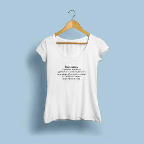 T-shirt femme Pieds carrés