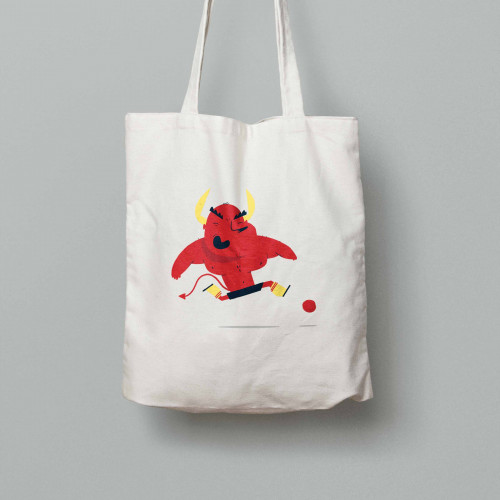 Tote bag Diables Rouges Mascotte