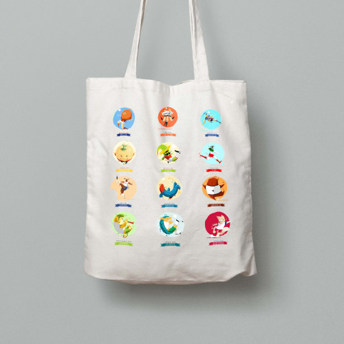 Tote bag Mascotte Mondial All Stars