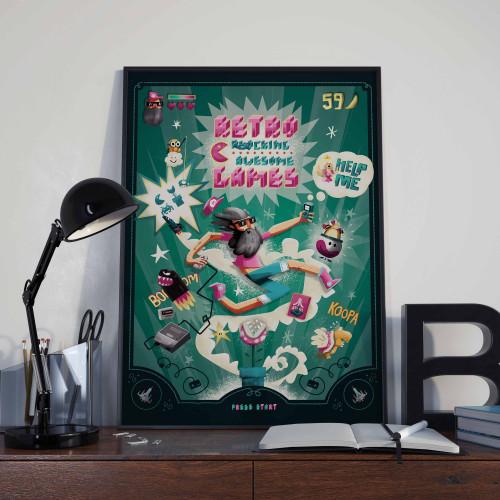 Affiche Rétro Gaming