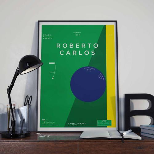 Affiche Roberto Carlos, France-Brésil