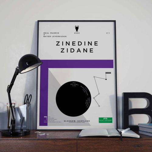 Affiche Zidane, Real Madrid-Leverkusen