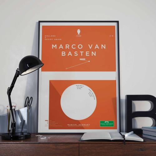 Affiche Van Basten, Hollande-Pays Bas