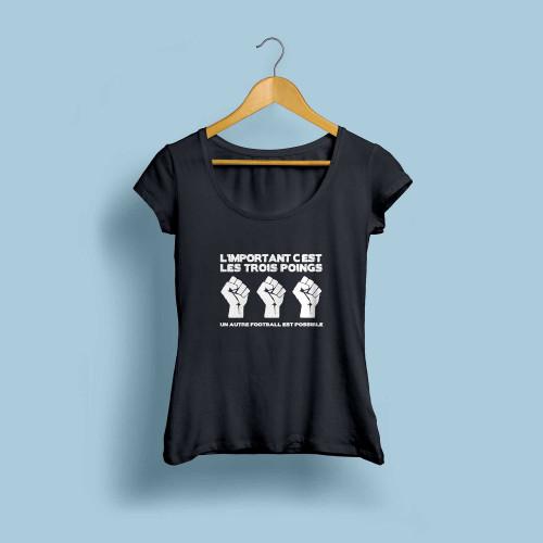 T-shirt femme L'important c'est les trois poings