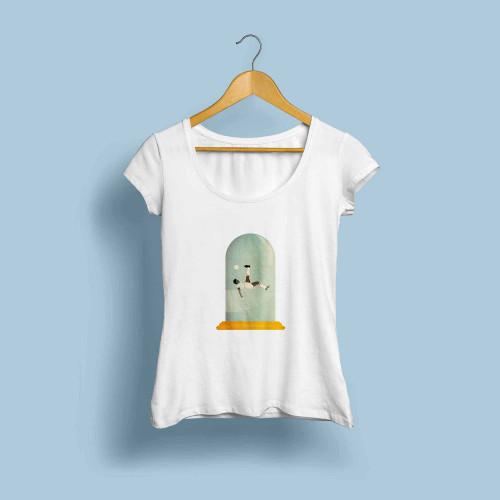 T-shirt femme Le retourné acrobatique