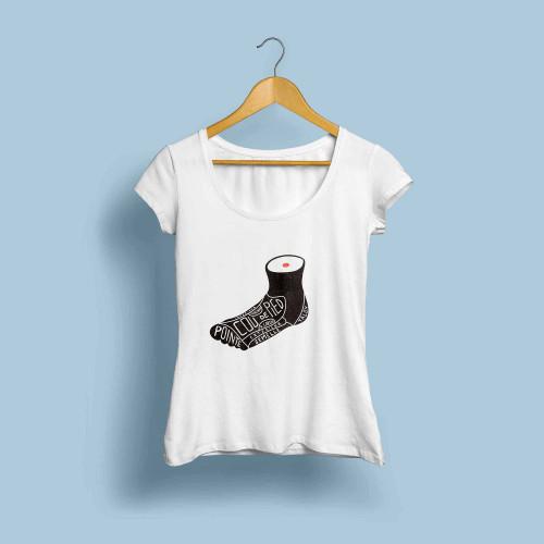 T-shirt femme Le pied beau