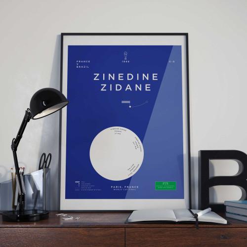 Affiche Zidane, France-Brésil