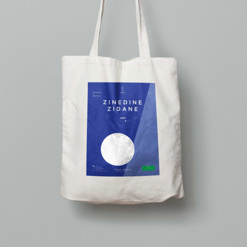Tote bag Zidane, France-Brésil