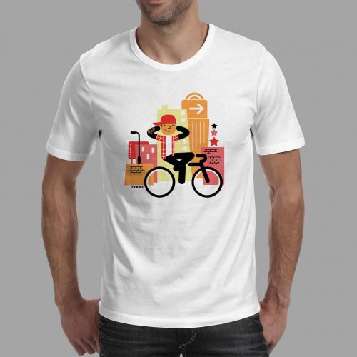 T-shirt homme Rider à casquette