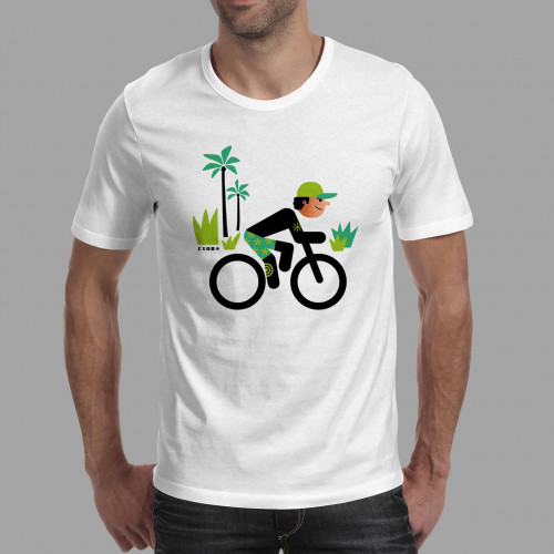 T-shirt homme Rider et cocotiers