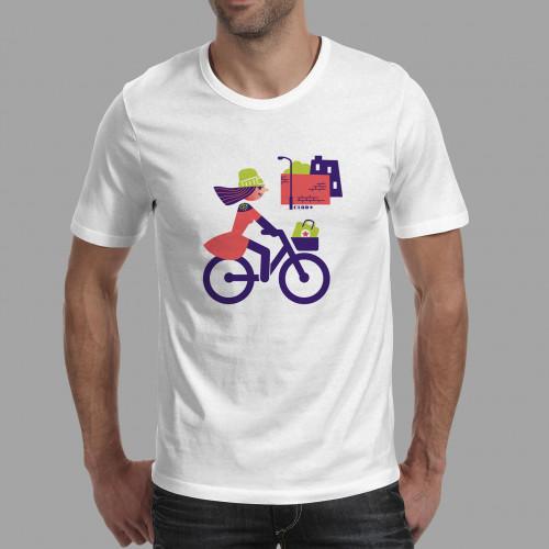 T-shirt homme Cycliste urbaine