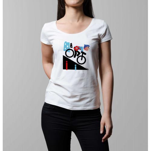 T-shirt femme Rider fixie