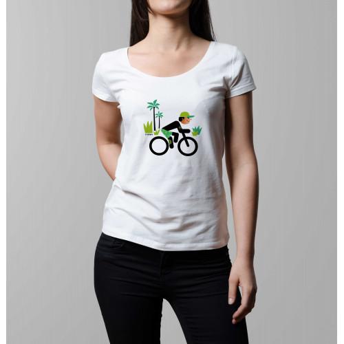 T-shirt femme Rider et cocotiers