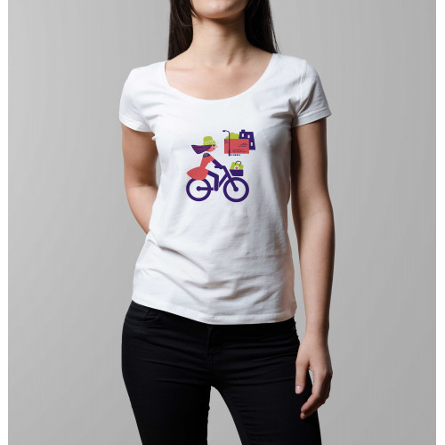 T-shirt femme Cycliste urbaine