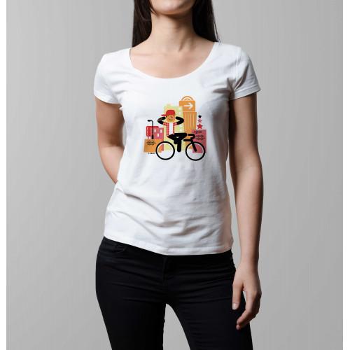 T-shirt femme Rider à casquette