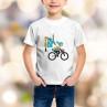 T-shirt enfant Parisienne à vélo