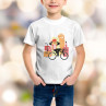 T-shirt enfant Rider à casquette