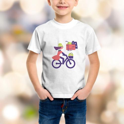 T-shirt enfant Cycliste urbaine