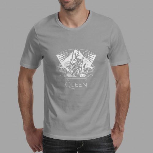 T-shirt homme Queen Crest (gris)