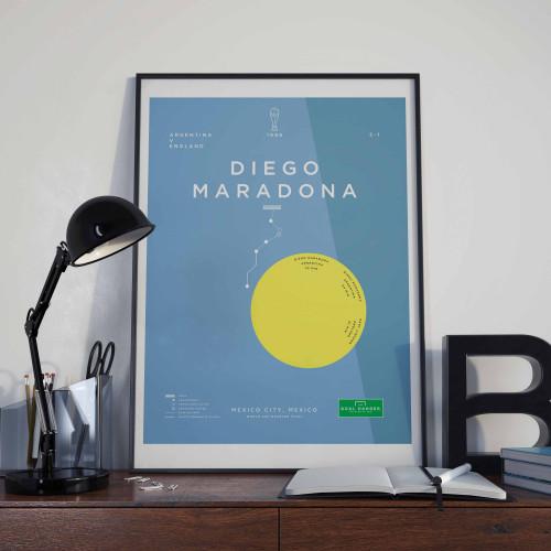 Affiche Maradona Main de Dieu