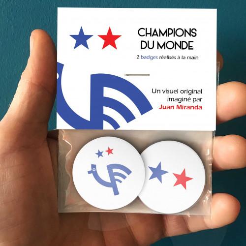 Badges Champions du monde