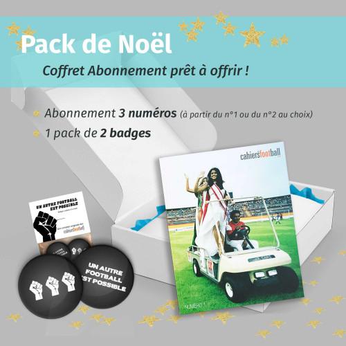 Pack Noël Abonnement Cahiers du foot