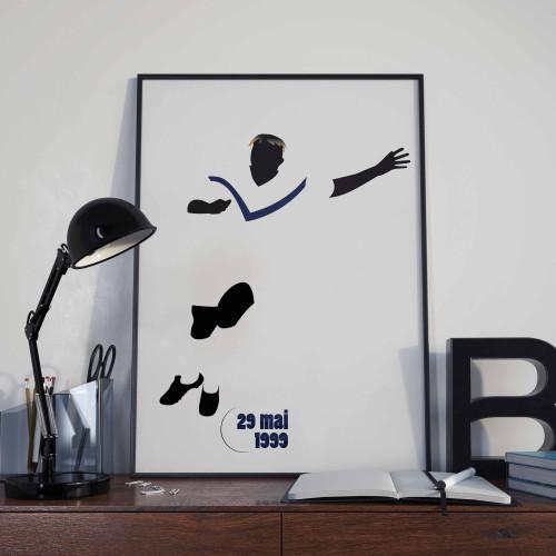 Affiche Feindouno, PSG-Bordeaux 1999