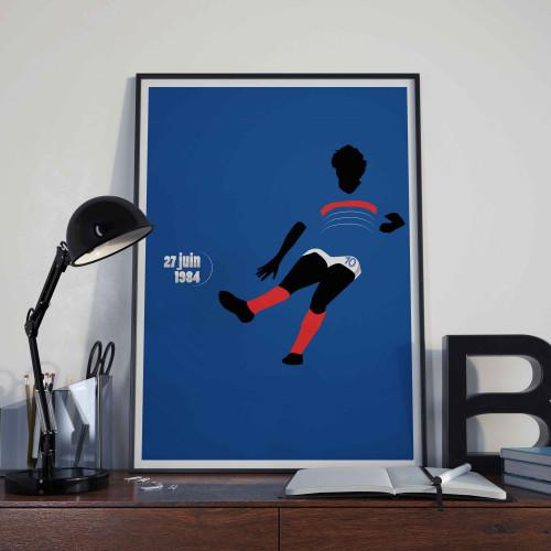 Affiche Platini, Euro 84