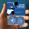 Badges Bleus Vintage