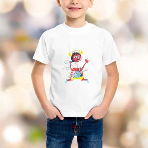 T-shirt enfant Diablotin Rock On !