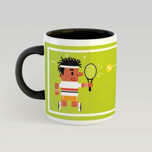 Mug Tennis gazon