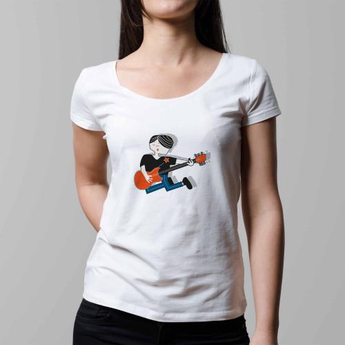 T-shirt femme Rock band
