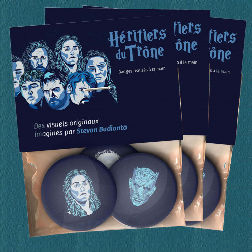 Pack 3x3 Badges Héritiers du Trones